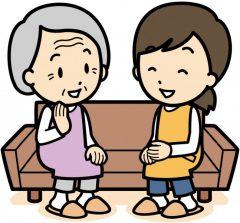 会話を楽しむ老人